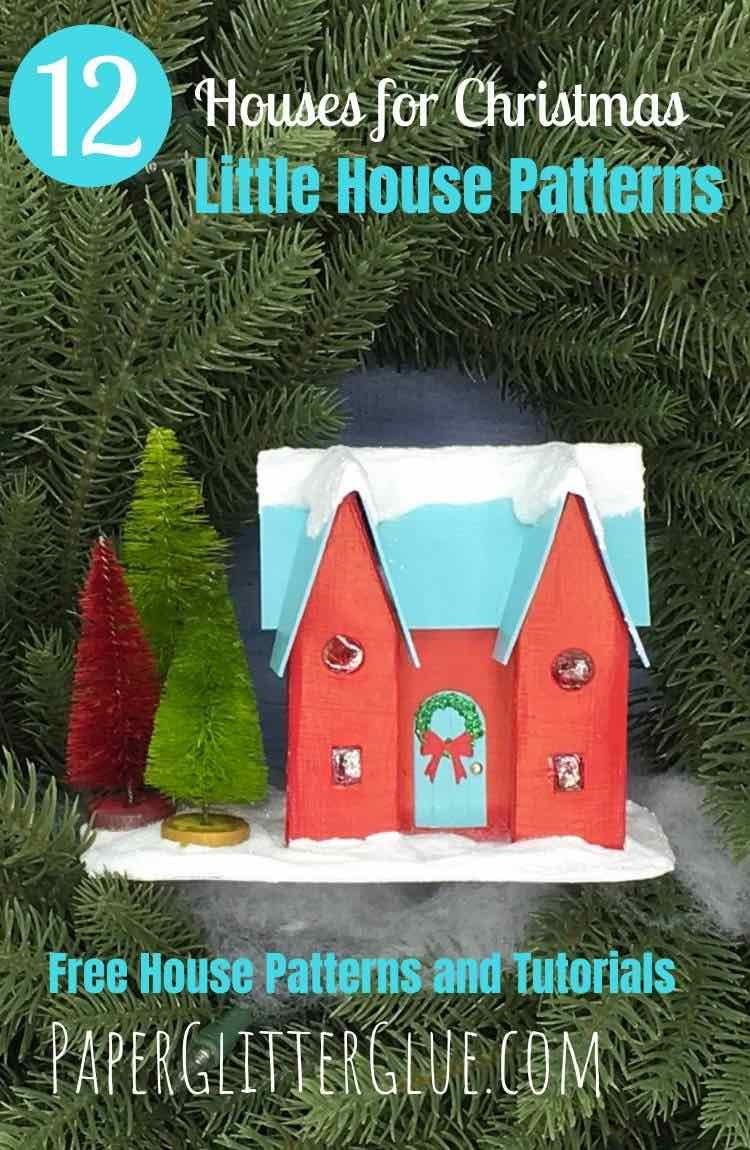 12 Houses for Christmas paper house Happy Holiday House