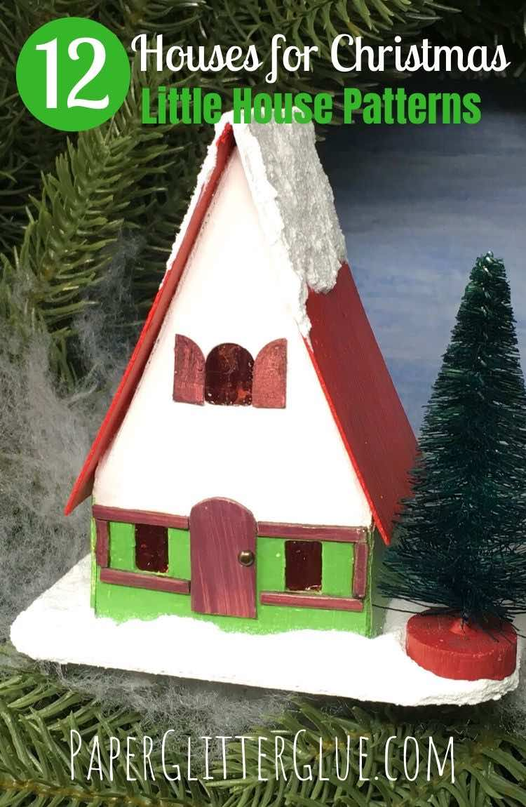 12 Houses for Christmas paper putz houses