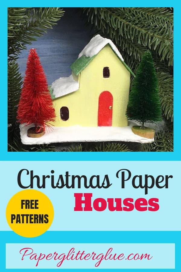 Pattern for Split Level Christmas Putz House for 12 Houses for Christmas