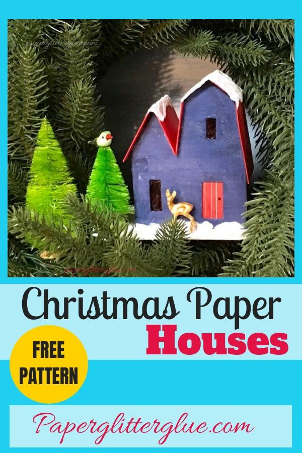 12 Putz Houses for Christmas challenge