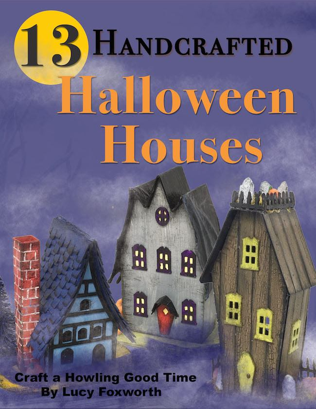 13 Handcrafted Halloween Houses book cover
