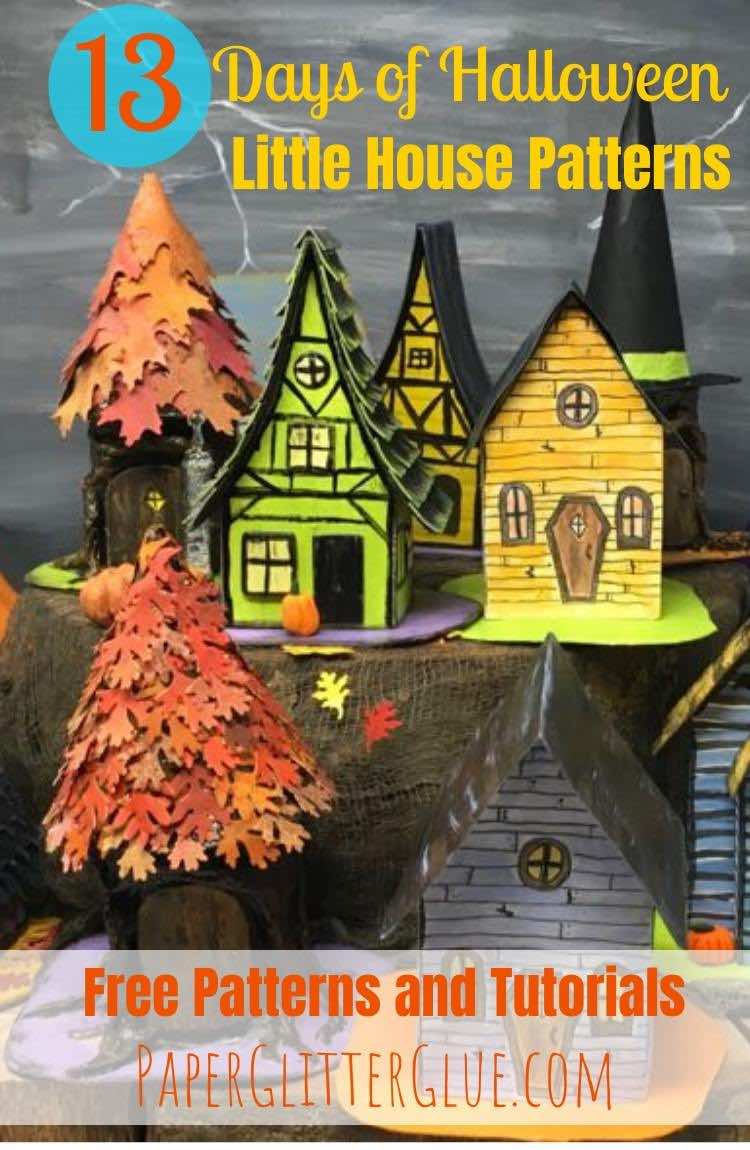 13 Little Halloween Paper Houses to make
