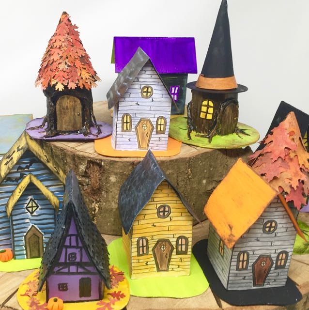 13 days paper halloween houses