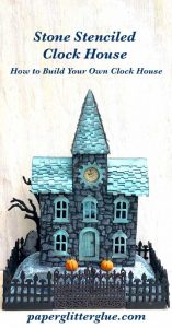 Stone Stenciled Clock House