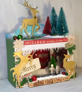 Christmas Deer Shadowbox