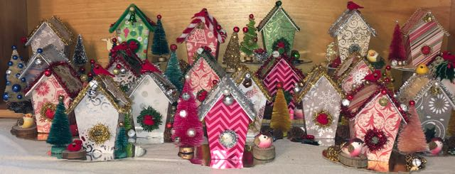 christmas birdhouse ornaments - Bird House Christmas Decoration