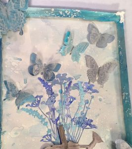 Wildflowers for Frosted Butterflies Mixed Media piece