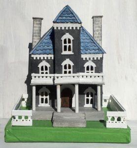 Spring Mansion cardboard putz house
