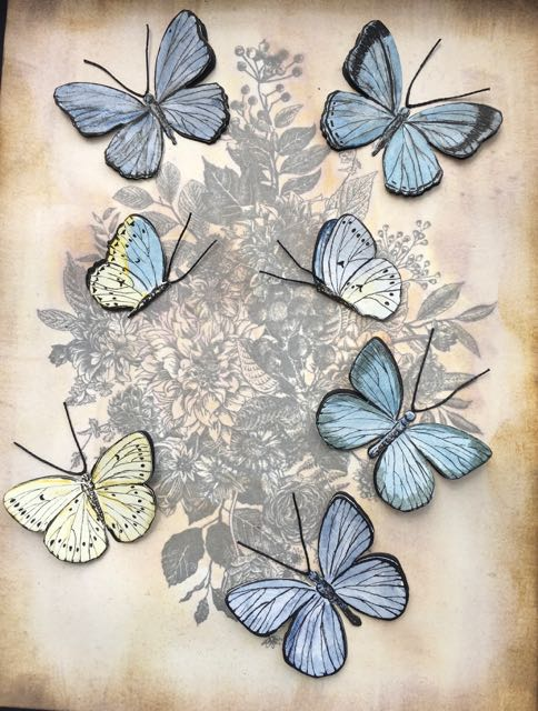 Close up for butterflies for vintage print