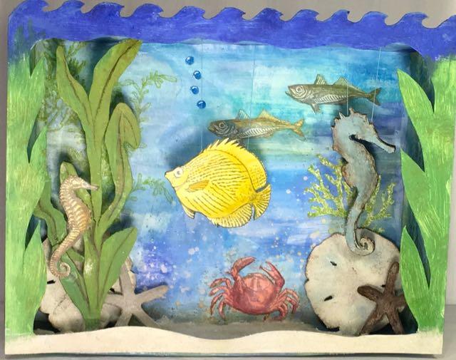 3-D Under the Sea Shadow Box