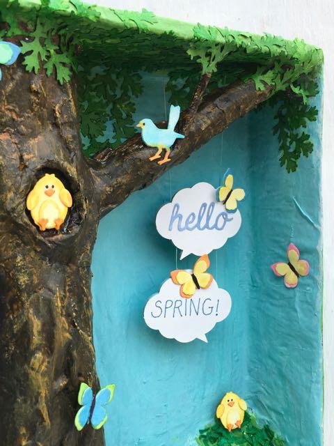 Springtime Woodland Cardboard project