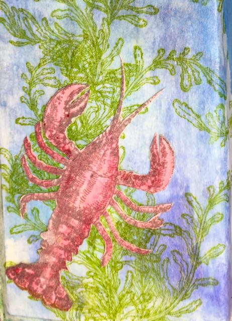 Tim Holtz Sea life lobster stamp