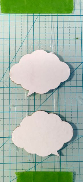 How to make a hanging word bubble cloud for your mixed media project