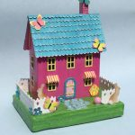 Pastel Easter House – Bunnies and Butterflies