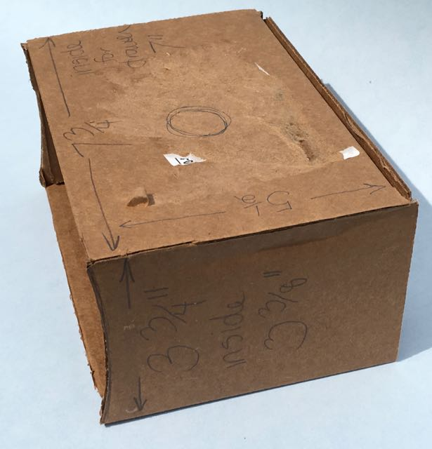 Basic box for the upcycled cardboard book box