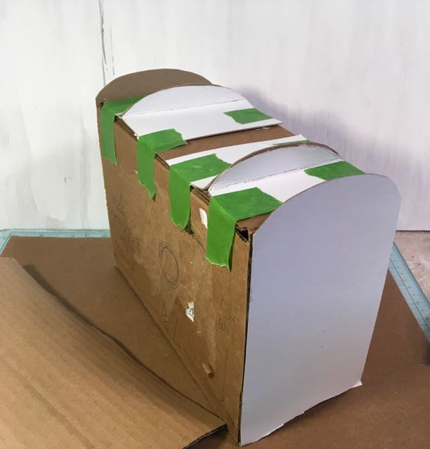 Templates for the top and bottom edges of book box