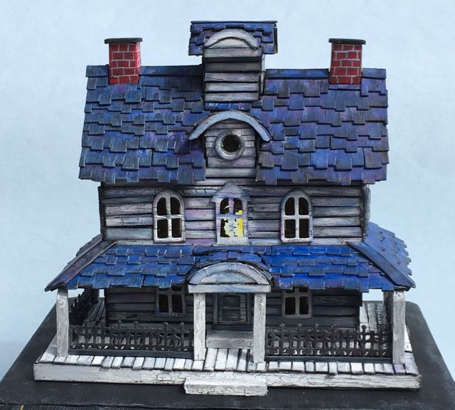 Gus the Ghost's house - cardboard house version