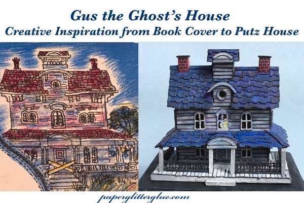 Side by side comparison of Gus the ghost's house