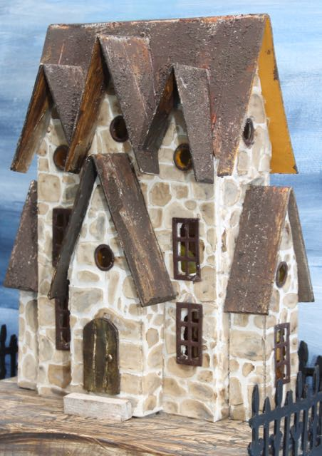 Stone Putz house with Three Gables #putzhouse #paperhouse #papercraft