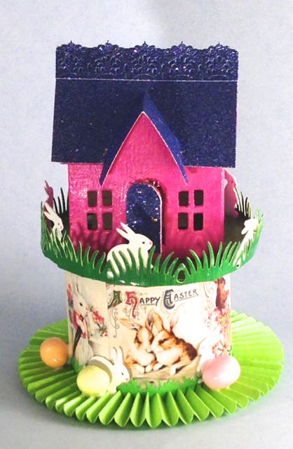 Tim Holtz Village Dwelling Easter House brightly colored
