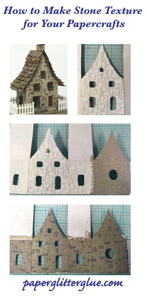 Stone texture tutorial for paper crafts or miniature houses