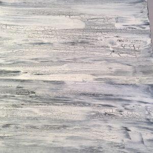 White crackle paint siding