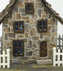 Irish stone cottage doorway detail