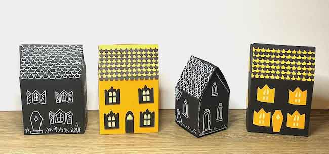 4 little candy box houses
