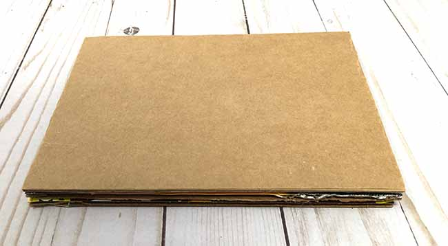 8 by 6 corrugated cardboard base for Leprechaun hous