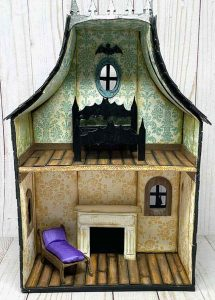 Adding furniture for Halloween dollhouse