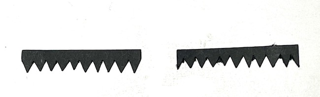 Alternate shingle shapes to make harlequin design on the roof