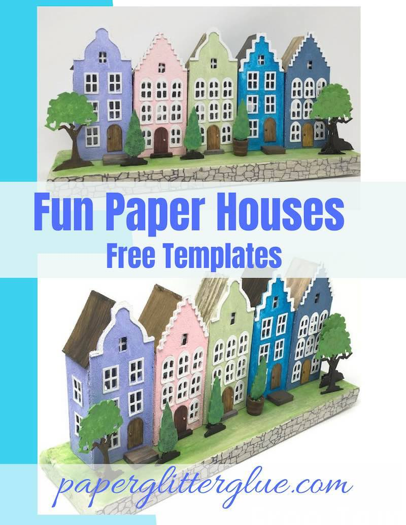 Amsterdam Canal Paper Houses free template