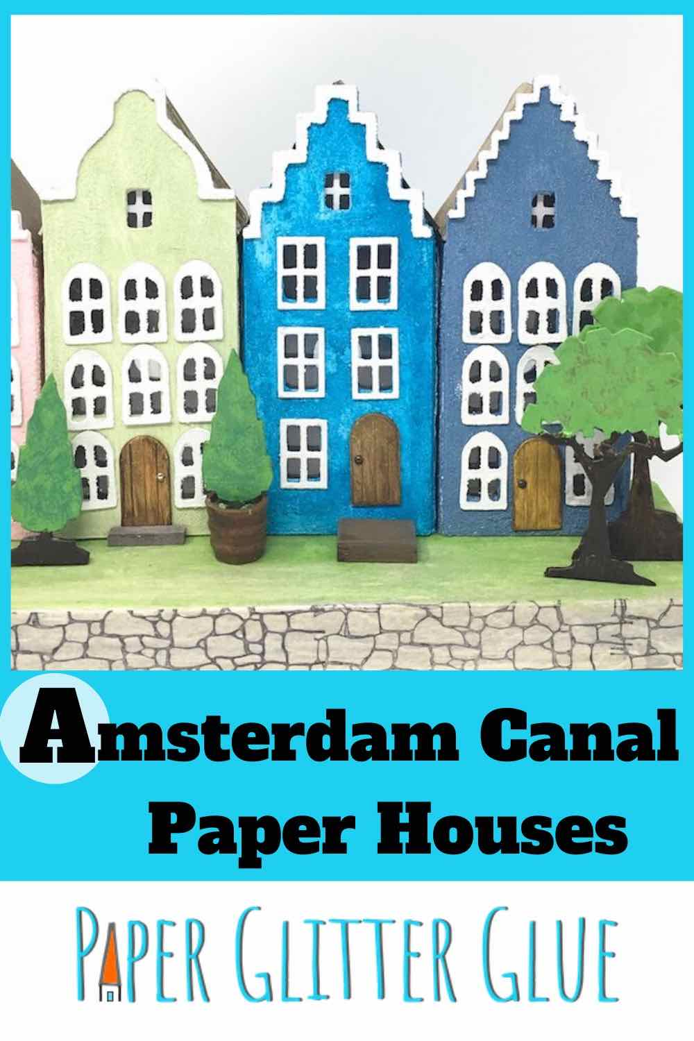 Amsterdam Canal Paper houses free pattern