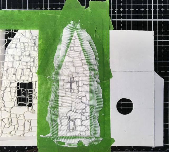 Stencil the stones with texture paste