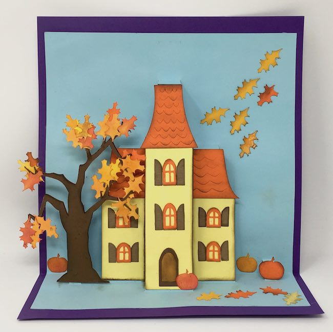 Autumn Holiday Manor Pop-Up Card