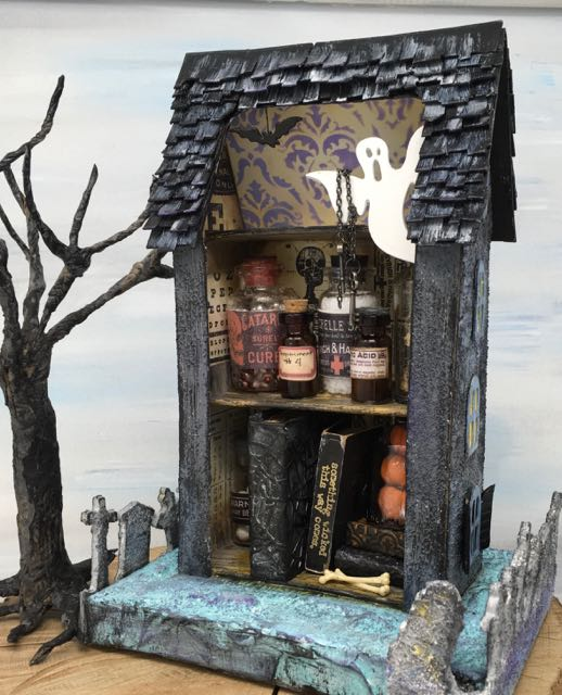 Back view of Apothecary Halloween House