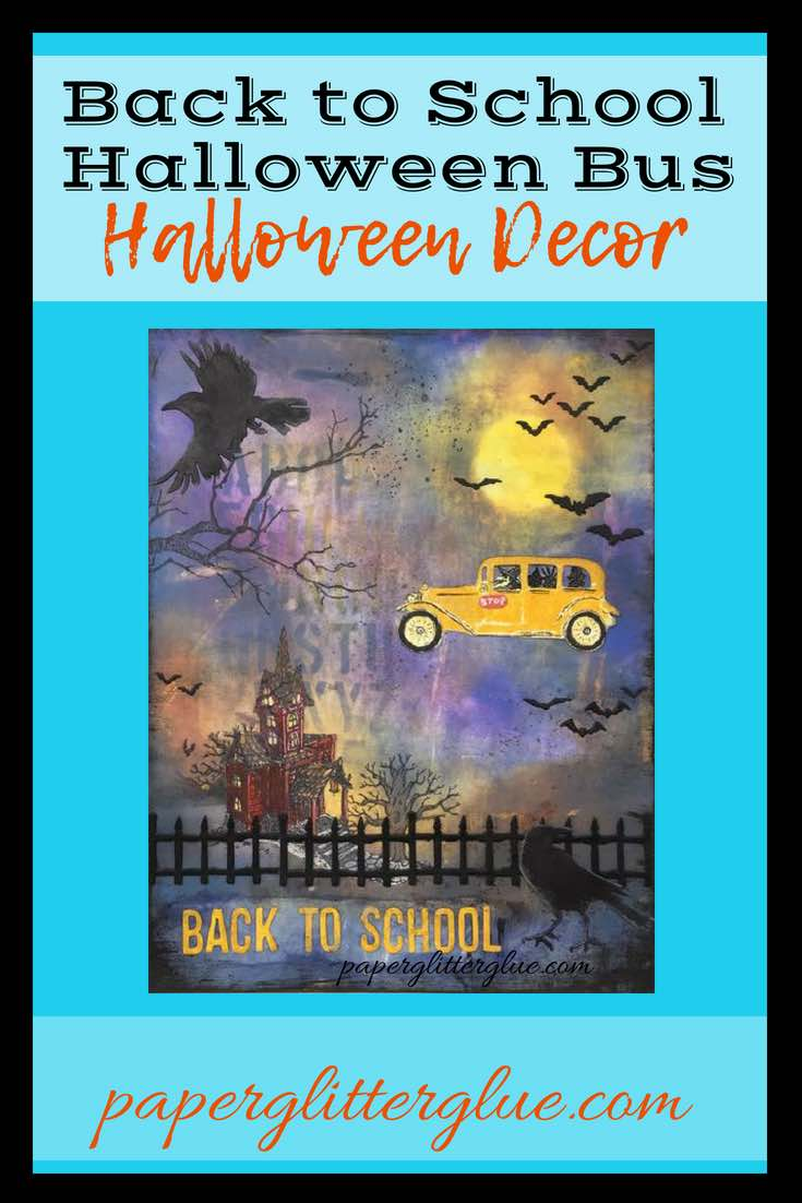 Back to School Halloween Bus Halloween Decor