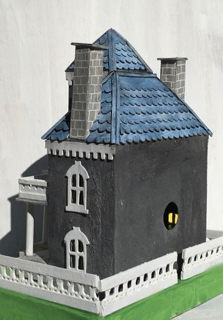 Spring Mansion roofline back view #putzhouse #papercraft