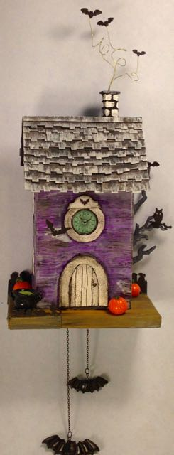 Bat Clock Halloween House