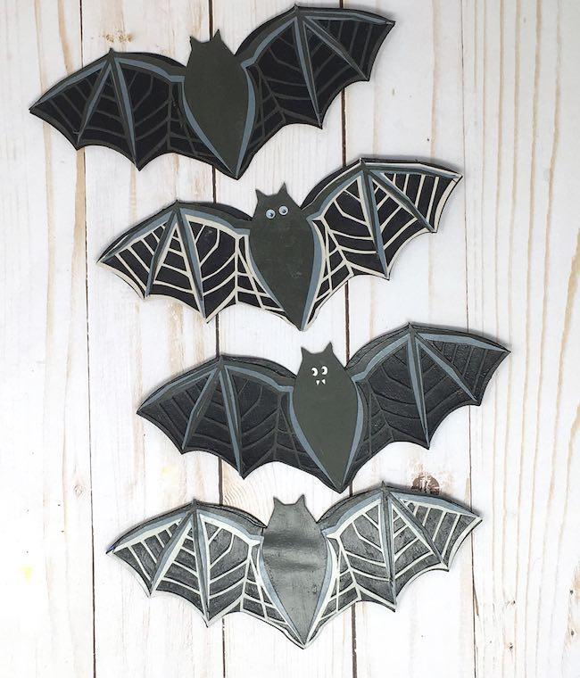 Bat layers glued together for garland