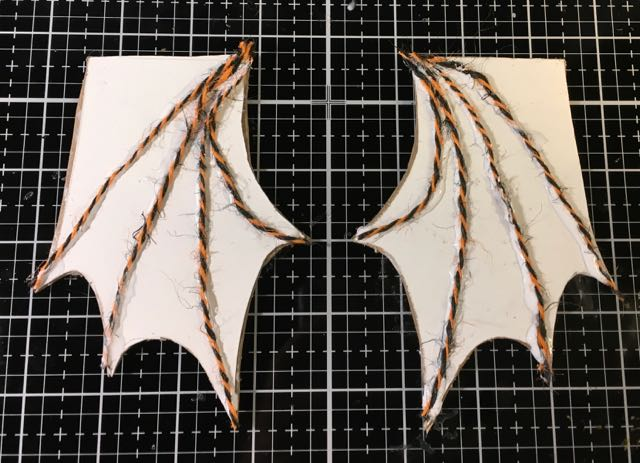 Cardboard bat wings for miniature Bat Wing Halloween House