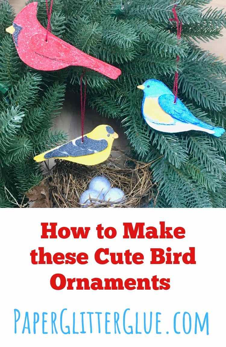 Bird Ornaments DIY Tutorial and SVG Patterns