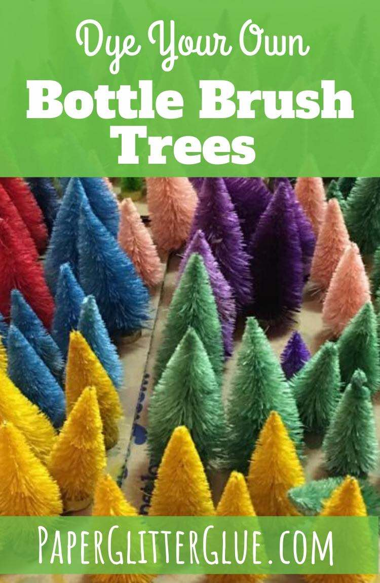 Bottle Brush trees for Craft party Dye your Own