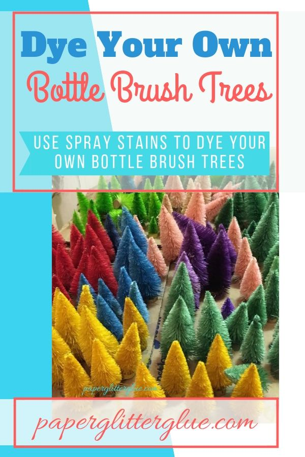 Bottle Brush trees for Craft party - Dye your Own in custom colors