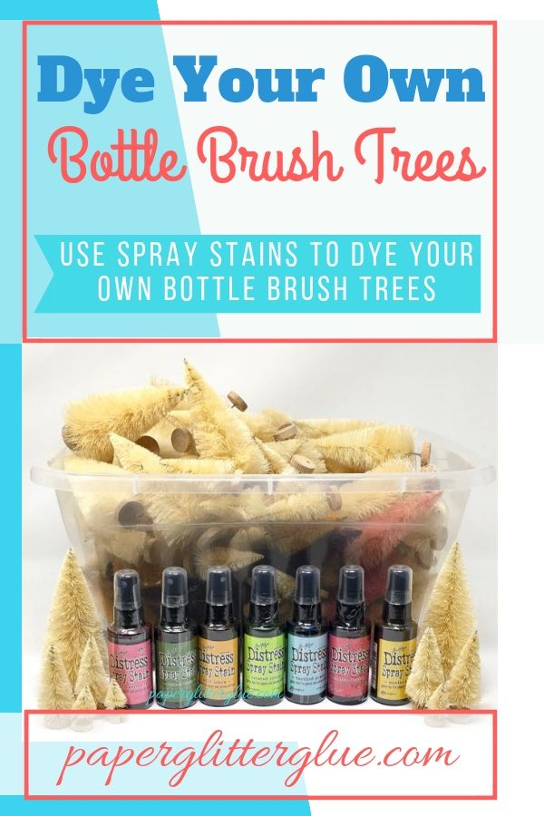 Bottle Brush trees for Craft party - Dye your Own