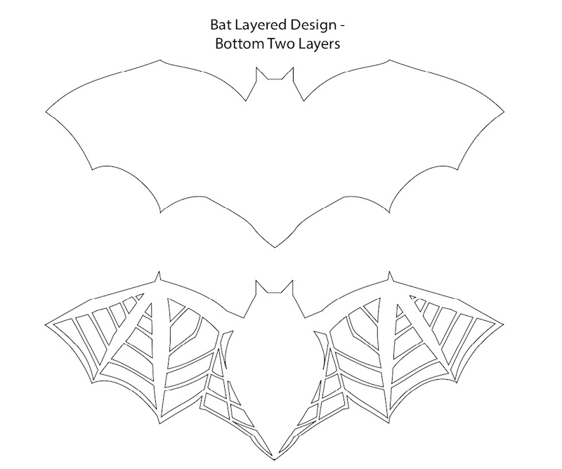 Bottom two layers for the Bat Layered Design