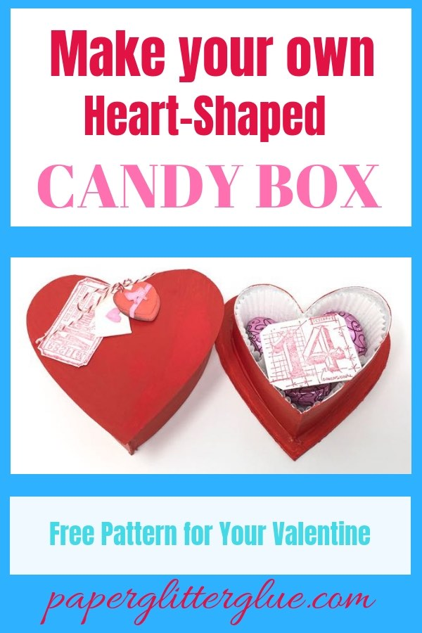 Candy Box in shape of a heart easy to make