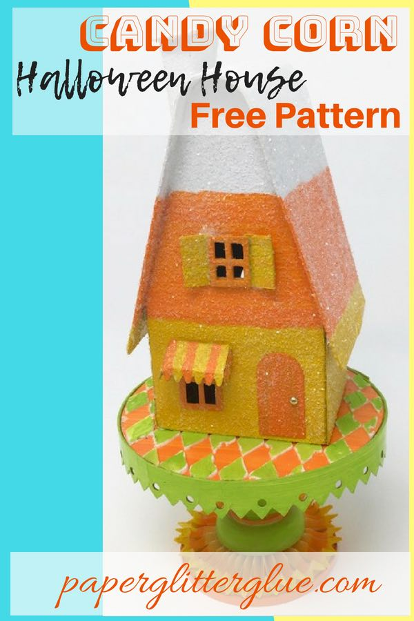 Candy Corn Halloween House Pin 2