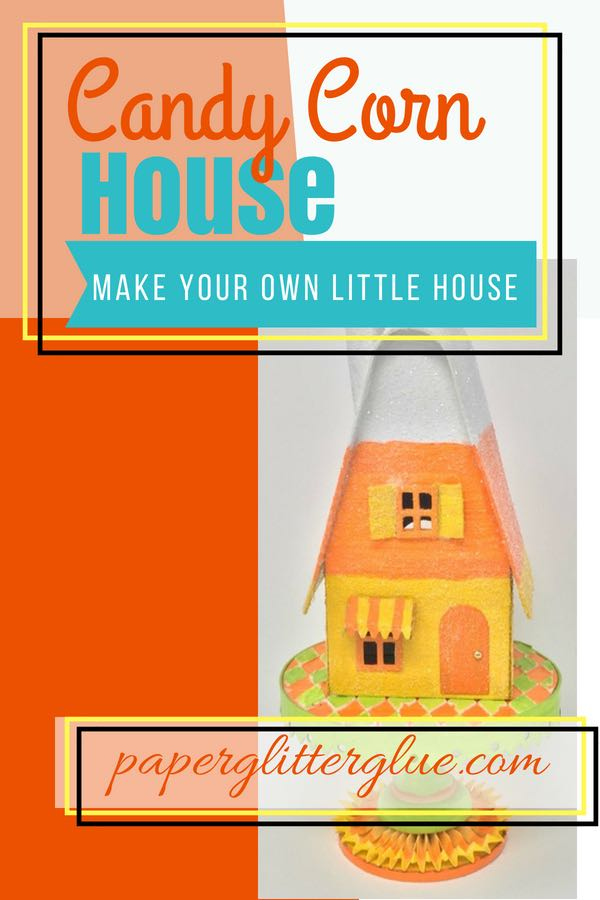 Candy Corn Halloween House pin