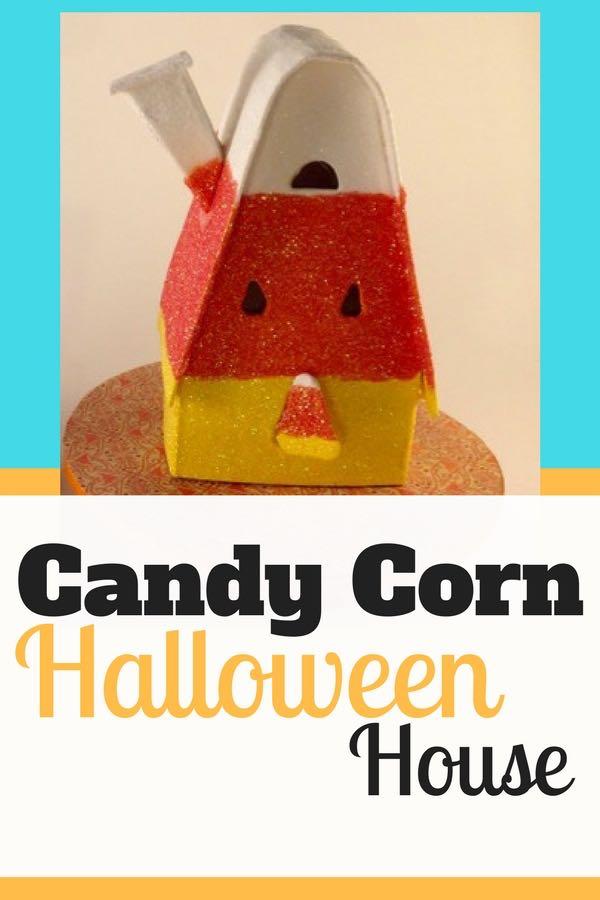Candy Corn Halloween House pin